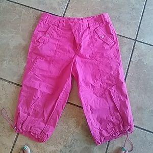 Pink size 14 Capri's